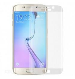 Lenktas skaidrus apsauginis grūdintas stiklas Samsung Galaxy S6 Edge telefonui