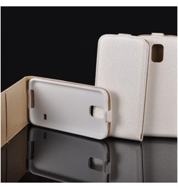 """Baltos spalvos atverčiamas dėklas Apple iPhone 6 Plus telefonui """"Telone Vertical Pocket"""""""