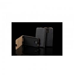"""Juodas atverčiamas dėklas Samsung Galaxy A7 telefonui """"Telone Vertical POCKET"""""""