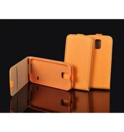 """Atverciamas oranzinis deklas Samsung Galaxy A8 telefonui """"Telone Vertical"""""""