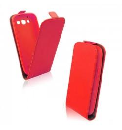 """Atverčiamas raudonas dėklas LG Leon telefonui """"Telone Vertical"""""""