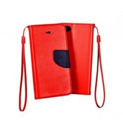 """Atverčiamas raudonas/mėlynas dėklas Samsung Galaxy J2 """"Telone Fancy"""""""