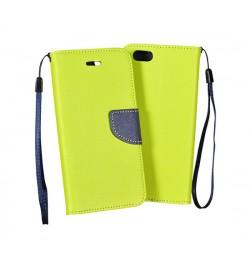 """Atverčiamas geltonas/mėlynas dėklas LG Leon telefonui """"Telone Fancy"""""""