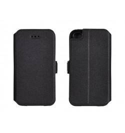 """Atverčiamas juodas dėklas Samsung Galaxy S7 Edge telefonui """"Telone Book Pocket"""""""
