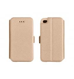 """Atverčiamas auksinis dėklas HTC Desire 620 telefonui """"Telone Book Pocket"""""""