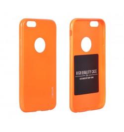 """Itin plonas 0,3mm silikoninis oranžinis dėklas Samsung Galaxy S6 Edge telefonui """"Jelly Fluorescent"""""""