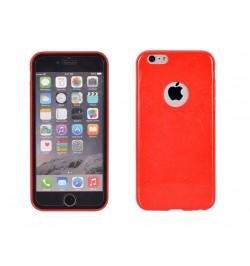 """Itin plonas 0,3mm silikoninis raudonas dėklas Samsung Galaxy J1 telefonui """"Candy"""""""