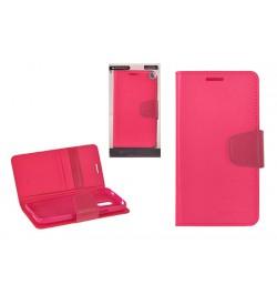 """Atverčiamas tamsiai rožinis dėklas Samsung Galaxy S6 Edge telefonui """"Sonata Diary"""""""
