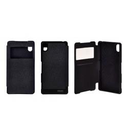 """Atverčiamas juodas dėklas Samsung Galaxy A3 telefonui """"Mercury WOW Bumper View"""""""
