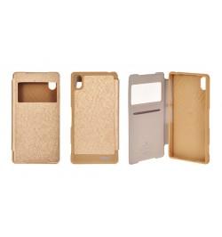 """Atverčiamas auksinis dėklas iPhone 5 telefonui """"Mercury WOW Bumper View"""""""