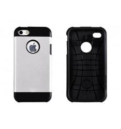 """Plastikinis sidabrinis dėklas HTC One M8 telefonui """"Vennus tough armor matt"""""""
