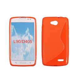 "Silikoninis oranžinis dėklas LG SWIFT L90 (D373) telefonui ""S-case"""