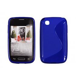 """Silikoninis mėlynas dėklas LG JOY (H220) telefonui """"S-case"""""""