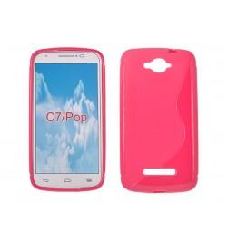 "Silikoninis rožinis dėklas LG F70 (D315) telefonui ""S-case"""