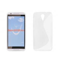 """Silikoninis skaidrus dėklas HTC One M9 telefonui """"S-case"""""""