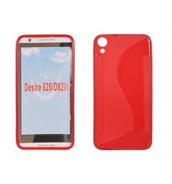 """Silikoninis raudonas dėklas HTC One M7 mini telefonui """"S-case"""""""
