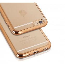 "Auksinis silikoninis dėklas Samsung Galaxy S6 Edge telefonui ""Clear case"""
