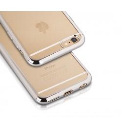 "Sidabrinis silikoninis dėklas Samsung Galaxy S6 Edge telefonui ""Clear case"""