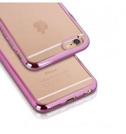 """Rožinis silikoninis dėklas Samsung Galaxy S6 Edge telefonui """"Clear case"""""""