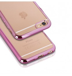 """Rožinis silikoninis dėklas Samsung Galaxy A5 (2016) telefonui """"Clear case"""""""