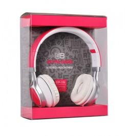 """Rožinės Bluetooth ausinės su mikrofonu """"Extra Bass"""""""