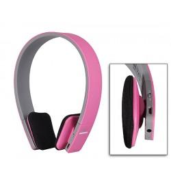 """Rožinės ausinės su mikrofonu """"Extra Bass"""""""