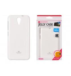 "Baltas silikoninis dėklas Sony Xperia E1 telefonui ""Jelly Case"""