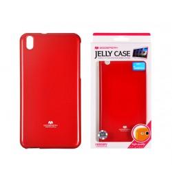 """Raudonas silikoninis dėklas Samsung Galaxy A8 telefonui """"Jelly Case"""""""
