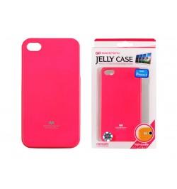 """Rožinis silikoninis dėklas iPhone 4 telefonui """"Jelly Fluorescent"""""""