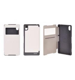 """Atverčiamas baltas dėklas Samsung Galaxy A5 telefonui """"Mercury WOW Bumper View"""""""