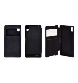 """Atverčiamas juodas dėklas Samsung Galaxy S6 Edge telefonui """"Mercury WOW Bumper View"""""""