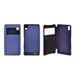 """Atverčiamas mėlynas dėklas Samsung Galaxy A5 (2016) telefonui """"Mercury WOW Bumper View"""""""