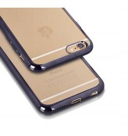 """Pilkos spalvos silikoninis dėklas Huawei P8 Lite telefonui """"Clear case"""""""