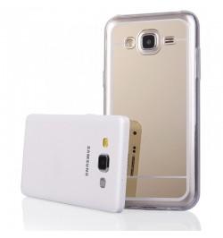 """Auksinės spalvos silikoninis dėklas Samsung Galaxy Grand Prime telefonui """"Mirror"""""""