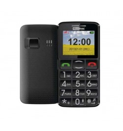 Mobilusis juodas telefonas MAXCOM MM 432