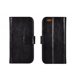 Specialus itališkos odos atverčiamas juodas dėklas LG G2 Mini telefonui