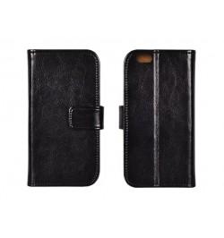 Specialus itališkos odos atverčiamas juodas dėklas Samsung Galaxy Core Prime telefonui