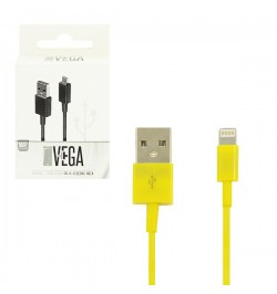 Geltonas iPhone 5, IPAD 4 USB kabelis VEGA