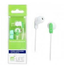 M-LIFE ausinės JACK 3,5 su mikrafonu