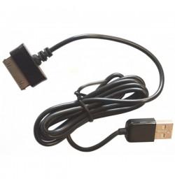 Samsung Galaxy TAB P1000 P7500 planšetės duomenų USB kabelis juodas