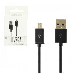 Juodas mikro USB kabelis VEGA Premium