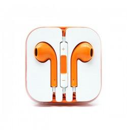 iPhone 5 oranžiniai ausinukai 3,5 VEGA