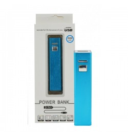 Mėlyna išorinė baterija 2600mAh PowerBank