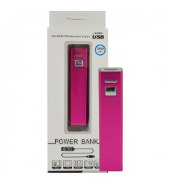 Rožinė išorinė baterija 2600mAh PowerBank