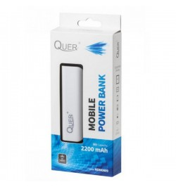 Balta išorinė baterija 2200mAh PowerBank