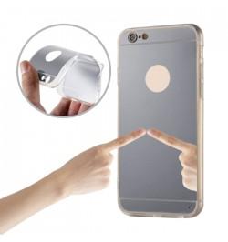 """Pilkos spalvos silikoninis dėklas iPhone 5/5S telefonui """"Mirror"""""""