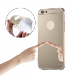 """Auksinės spalvos silikoninis dėklas iPhone 5/5S telefonui """"Mirror"""""""