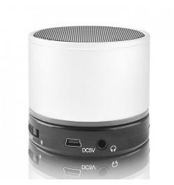 Balta nešiojama beleidė Bluetooth garso kolonėlė BS-100