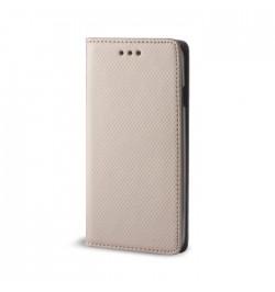 Auksinis dėklas Smart Magnet Samsung Galaxy Grand Prime G530 telefonui