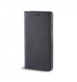 Juodas dėklas Smart Magnet Samsung Galaxy S6 Edge+ (G928) telefonui